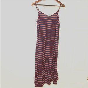 Ann Tylor Nautical Rope Midi Slip Dress w/ Slits